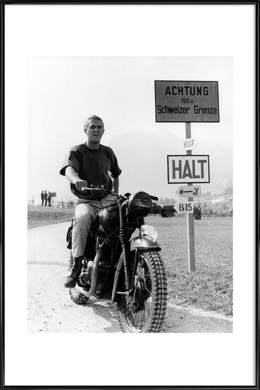 """Steve McQueen """"The Great Escape"""" 1963  ingelijste poster"""