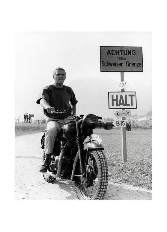 "Steve McQueen ""The Great Escape"" 1963  canvas doek"