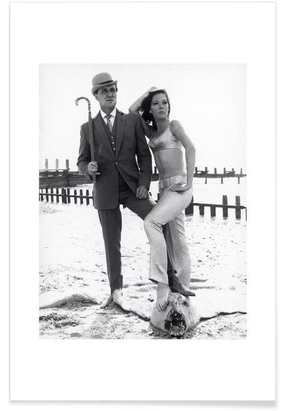 Noir & blanc, Vintage, The Avengers - Photographie vintage affiche