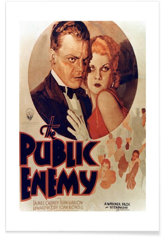Films, Vintage, 'The Public Enemy' - retro film poster