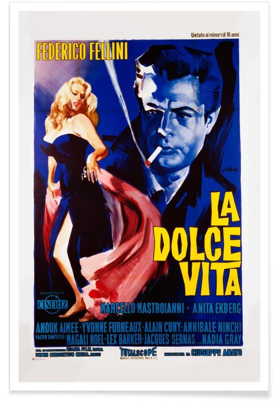 Films, Vintage, La Dolce Vita - Film rétro affiche