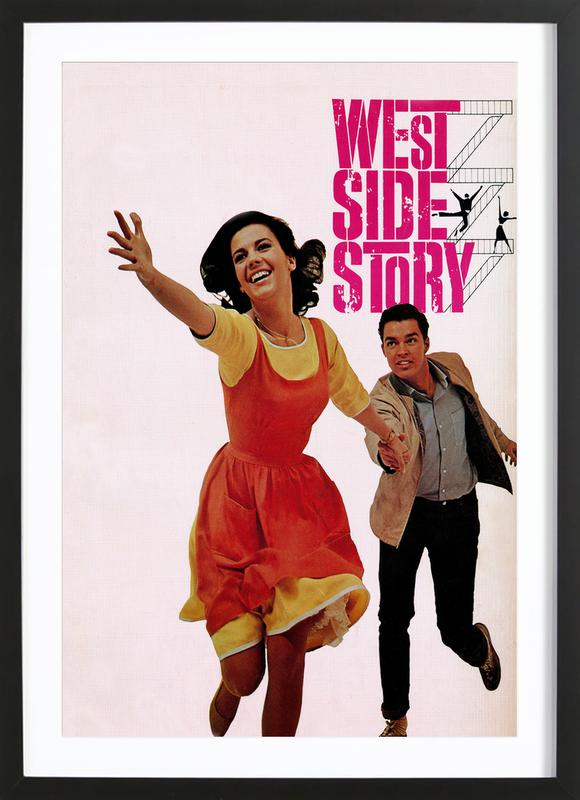 'West Side Story' Retro Movie Poster Framed Print