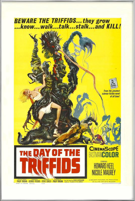 'The Day of the Triffids' Retro Movie Poster affiche sous cadre en aluminium