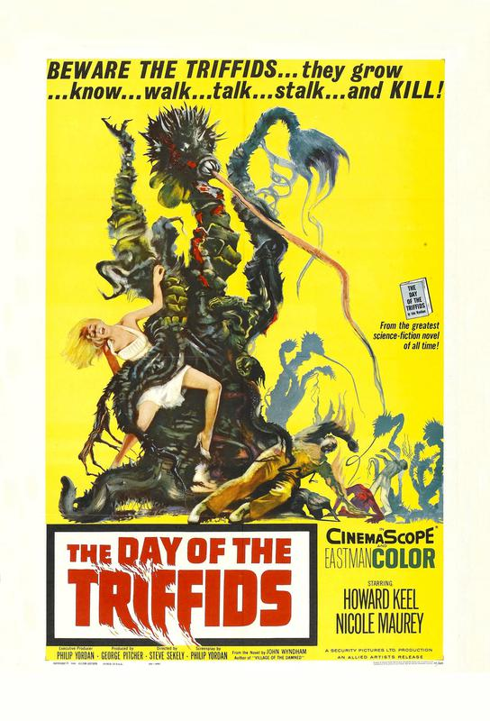 'The Day of the Triffids' Retro Movie Poster Impression sur alu-Dibond