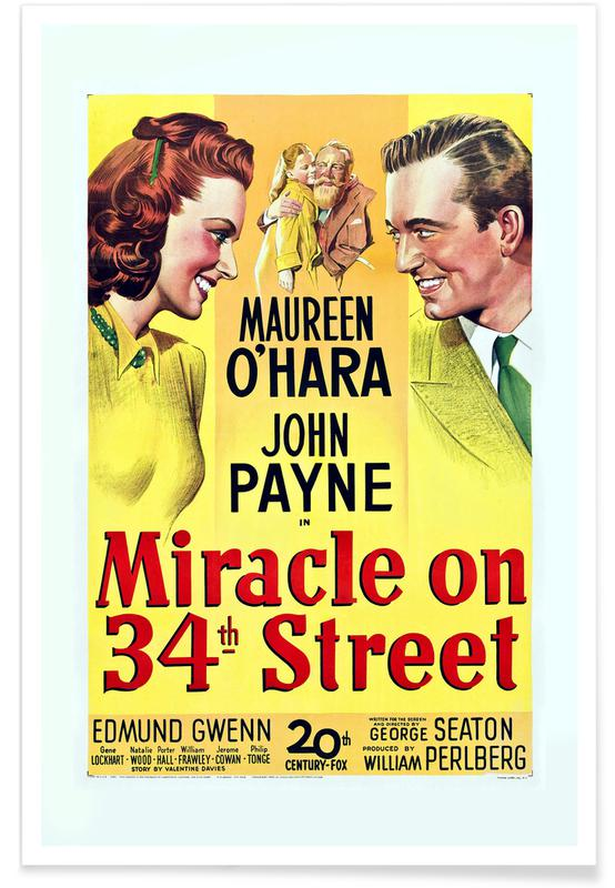 Films, Vintage, 'Miracle On 34th Street' - retro film poster