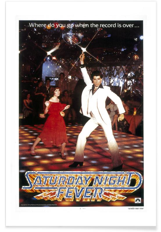'Saturday Night Fever'-Retro-Film -Poster