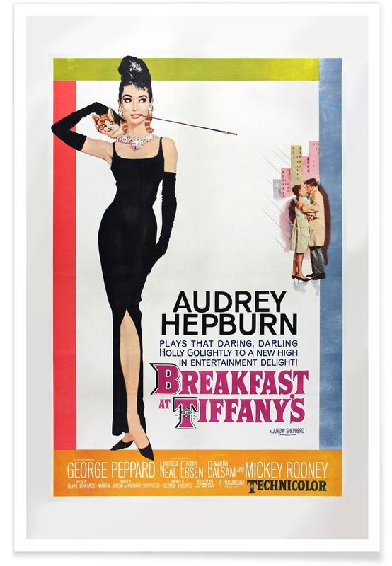 Audrey Hepburn, Filme, Vintage, 'Frühstück bei Tiffany'-Retro-Film -Poster