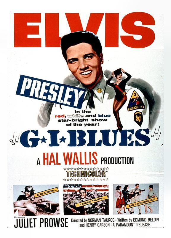 'G.I. Blues' Retro Movie Poster Canvas Print