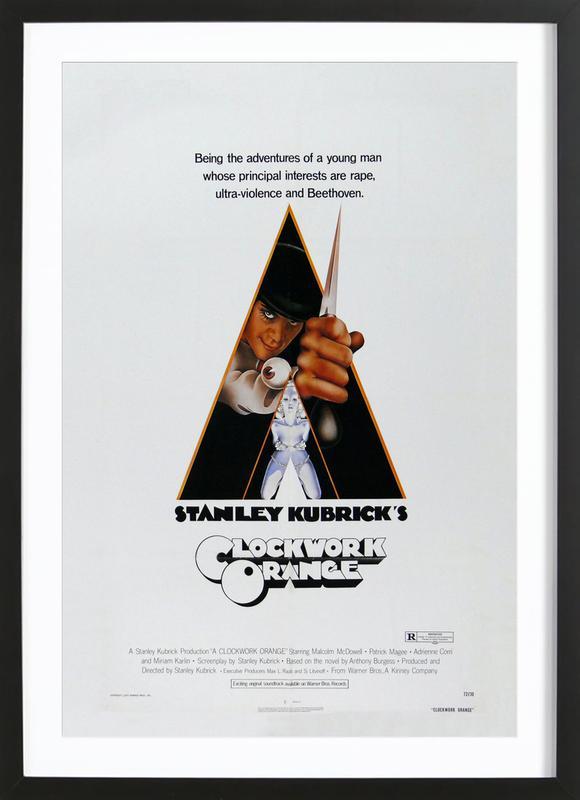 'A Clockwork Orange' Retro Movie Poster Framed Print