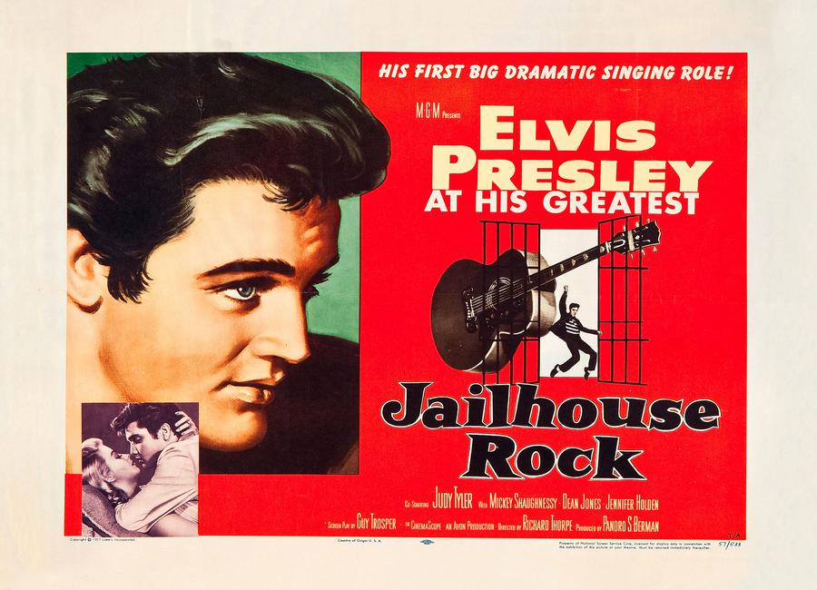 Jailhouse Rock' Retro Movie Poster -Leinwandbild