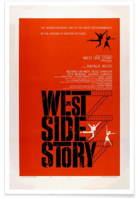 Films, West Side Story - Film rétro affiche