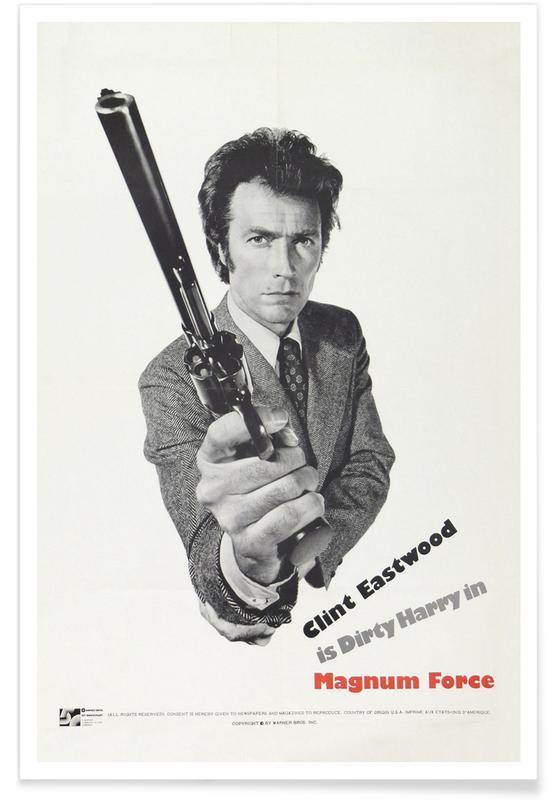 Clint Eastwood, Films, Magnum Force - Film rétro affiche