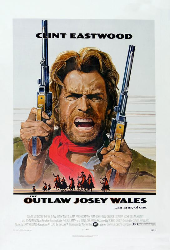 'The Outlaw Josey Wales' Retro Movie Poster Acrylic Print