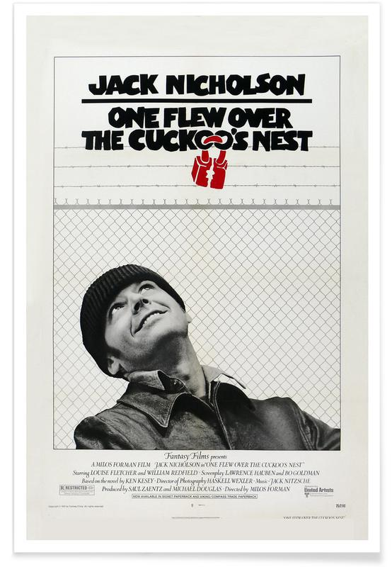 'One Flew over the Cuckoo's Nest' - retro film poster