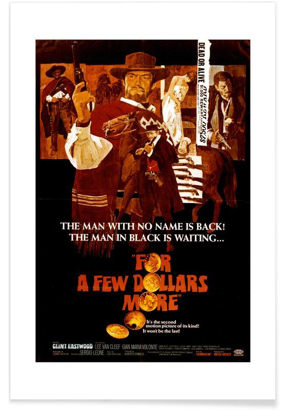 'Für ein paar Dollar mehr'-Retro-Film -Poster