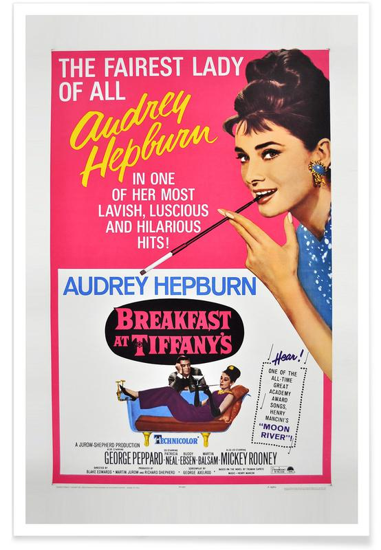 'Breakfast at Tiffany's' - retro film poster