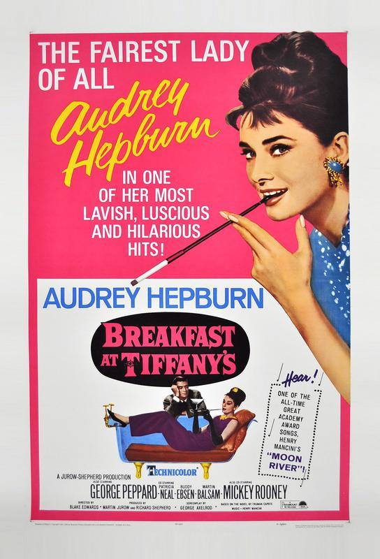 'Breakfast at Tiffany's' Movie Poster Aluminium Print