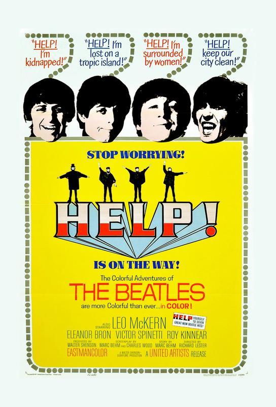 'Help!' Retro Movie Poster Acrylic Print