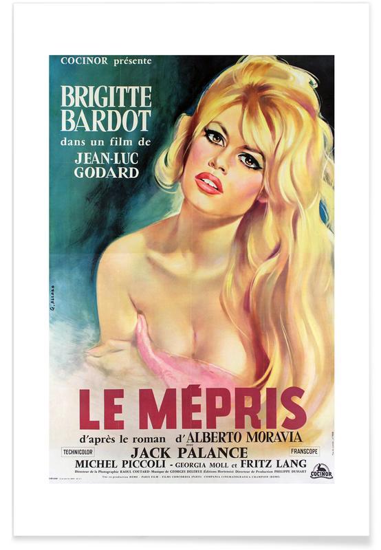 Brigitte Bardot, Movies, 'Le Mepris' Retro Movie Poster