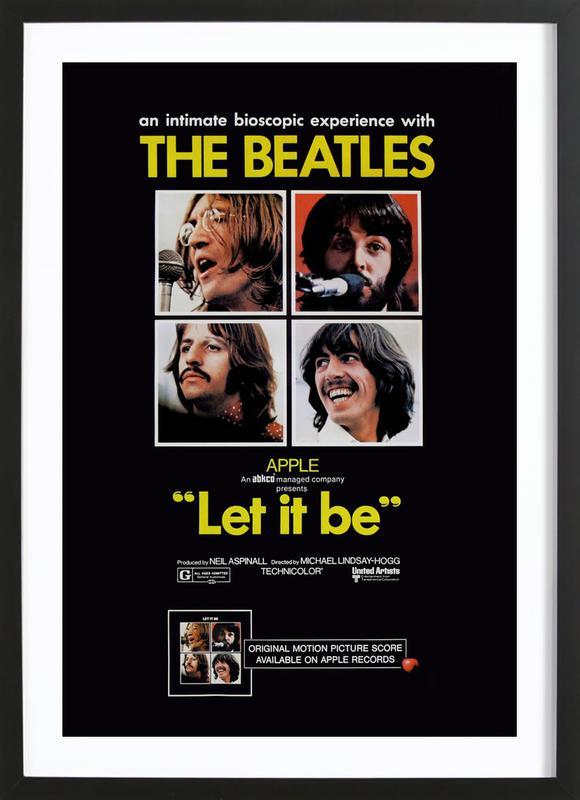 'Let It Be' Retro Movie Poster Framed Print