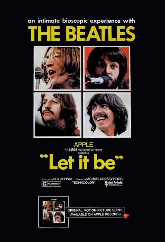 'Let It Be' Retro Movie Poster Acrylic Print