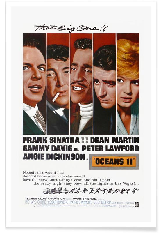 Films, Ocean's 11 - Film rétro affiche