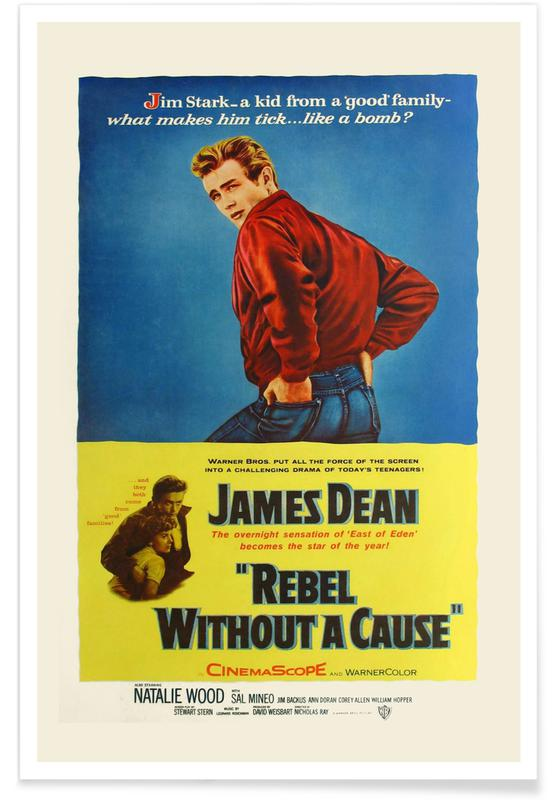 James Dean, Films, La Fureur de vivre - Film rétro affiche