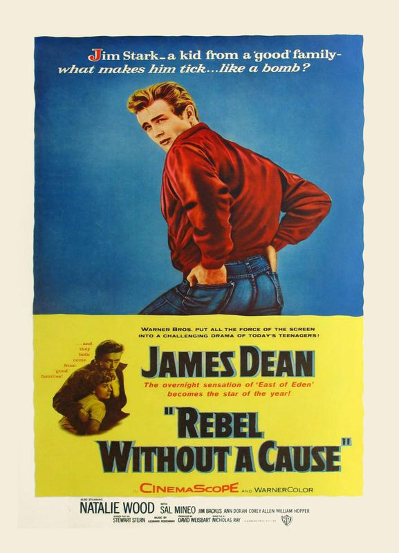 'Rebel Without a Cause' Retro Movie Poster Canvas Print
