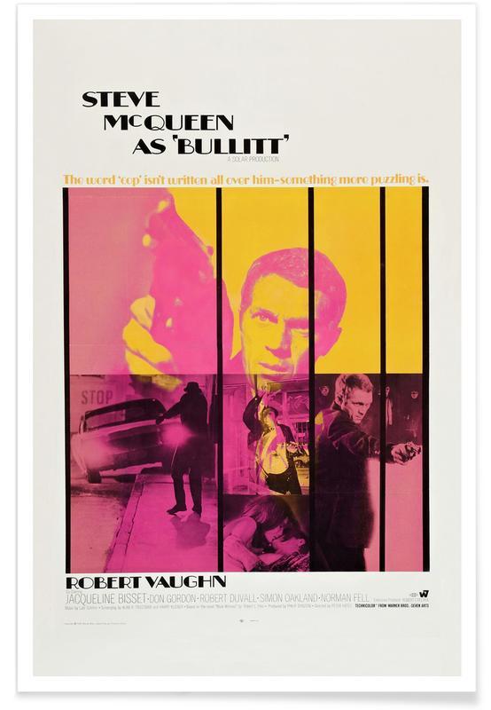 Filme, 'Bullitt'-Retro-Film -Poster