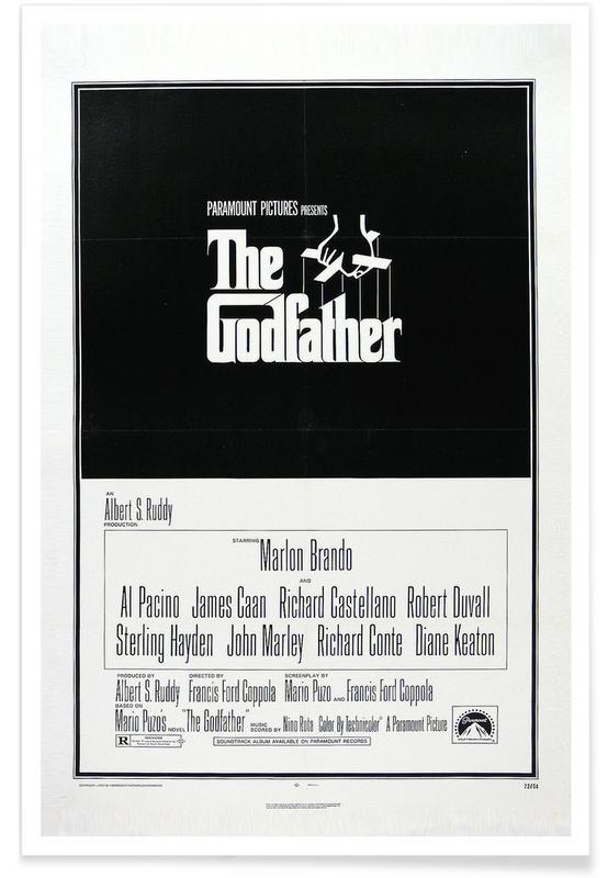 Films, Noir & blanc, Le parrain - Film rétro affiche