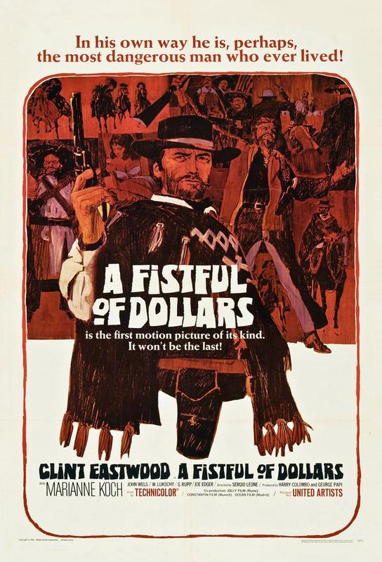 'A Fistful of Dollars' Retro Movie Poster Acrylic Print