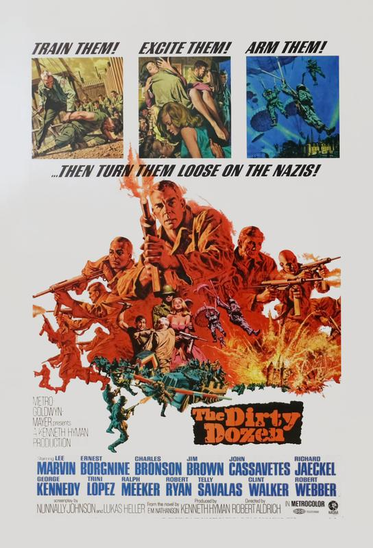 'The Dirty Dozen' Retro Movie Poster Acrylic Print