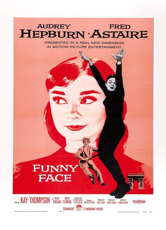 'Funny Face' Retro Movie Poster Canvas Print