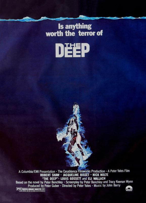'The Deep' Retro Movie Poster canvas doek