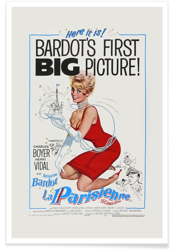Film, Brigitte Bardot, 'La Parisienne' Retro Movie Poster Plakat