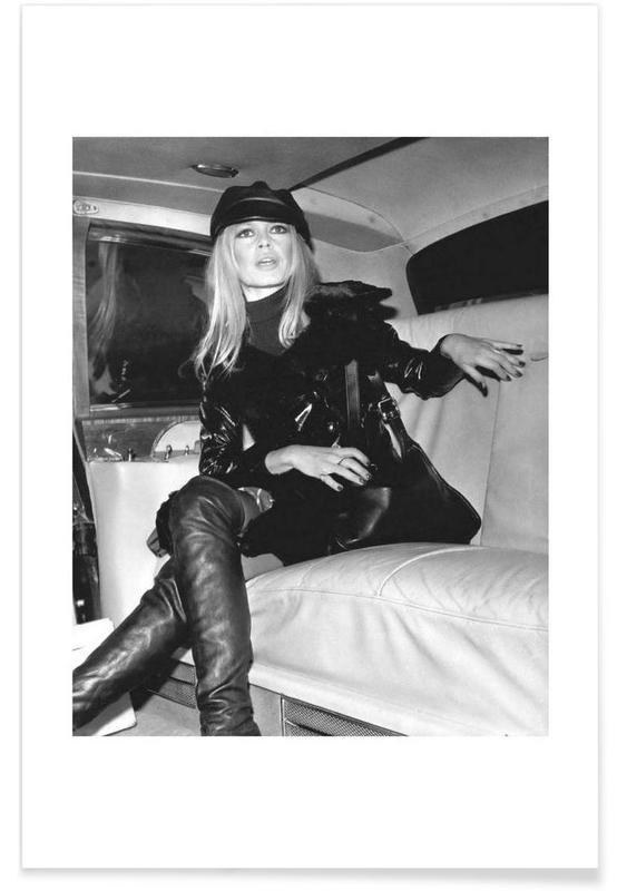 Sort & hvidt, Brigitte Bardot, Vintage, Brigitte Bardot, 1968 Vintage Photograph Plakat