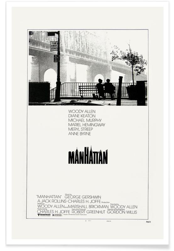 Films, Zwart en wit, 'Manhattan' - retro film poster