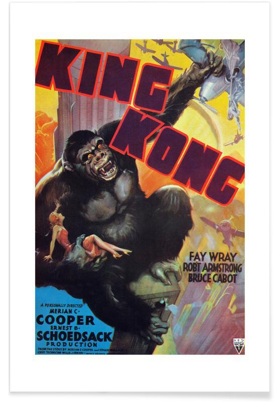 Films, 'King Kong' - retro film poster