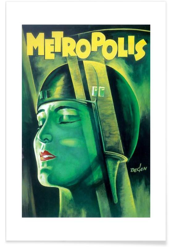 'Metropolis'-Retro-Film -Poster