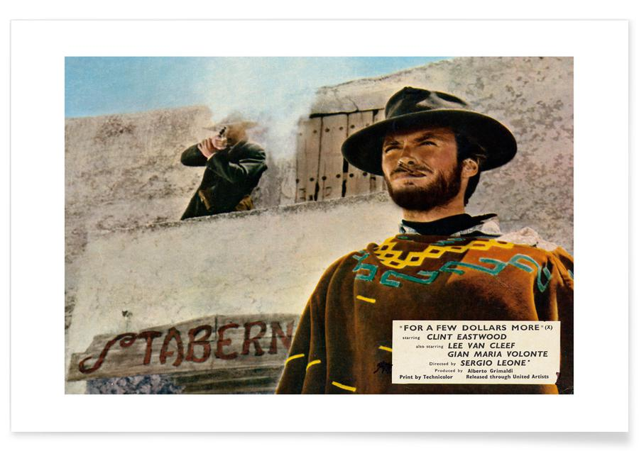 Clint Eastwood, Film, 'For a Few Dollars More' Retro Movie Poster Plakat