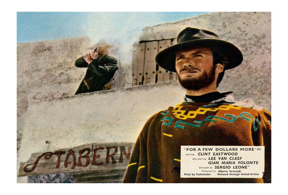 'For a Few Dollars More' Retro Movie Poster alu dibond
