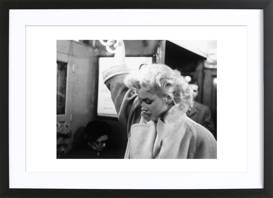 Marilyn Monroe, on subway 1995 New York Framed Print