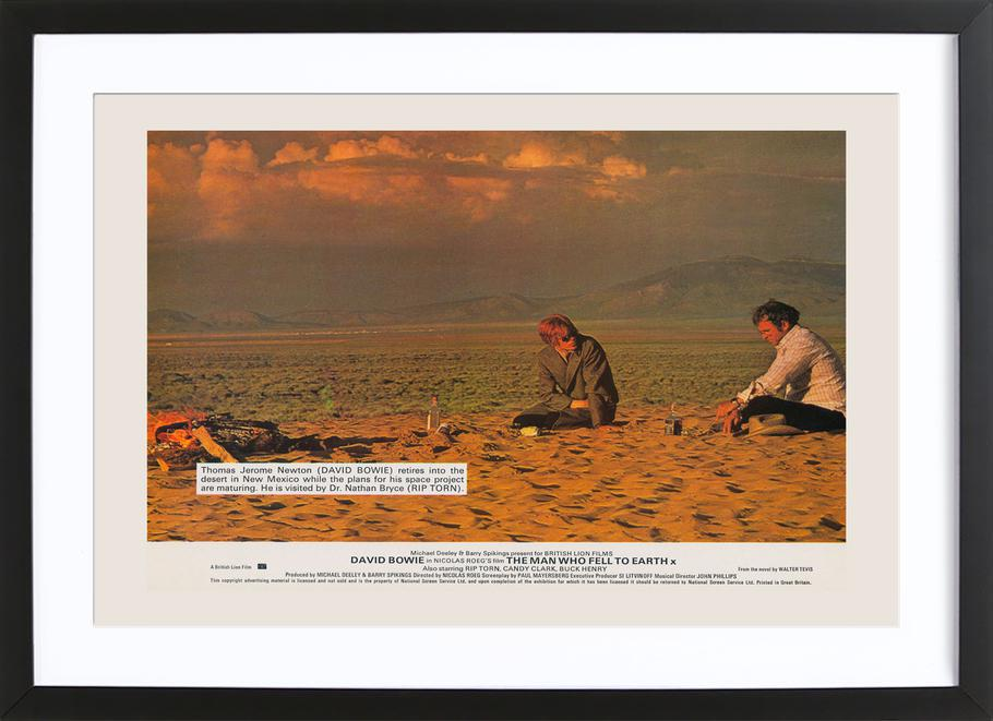 The Man Who Fell to Earth' Retro Movie Poster -Bild mit Holzrahmen