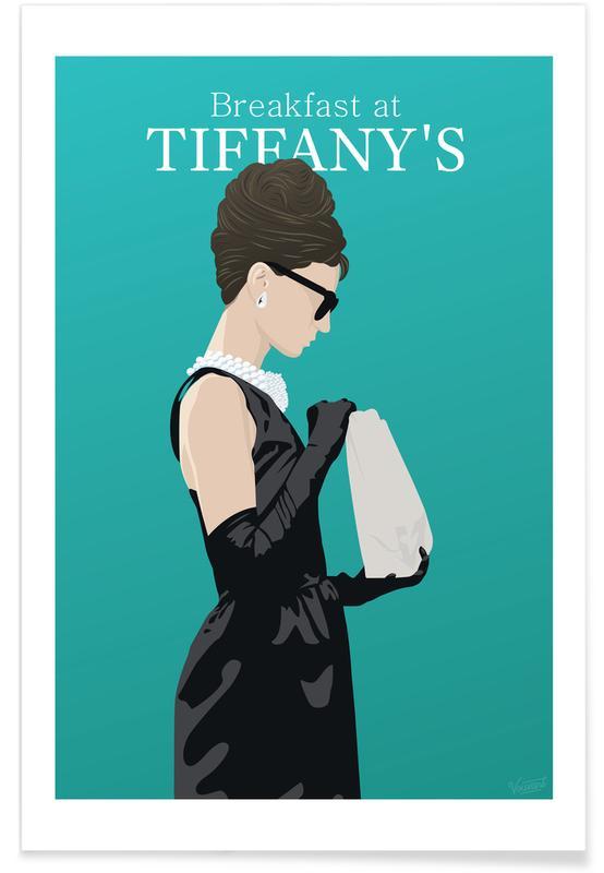 Films, Audrey Hepburn, Film Breakfast at Tiffany's poster