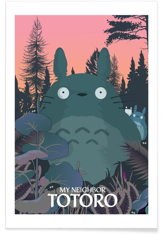 Films, Film d'animation Totoro affiche