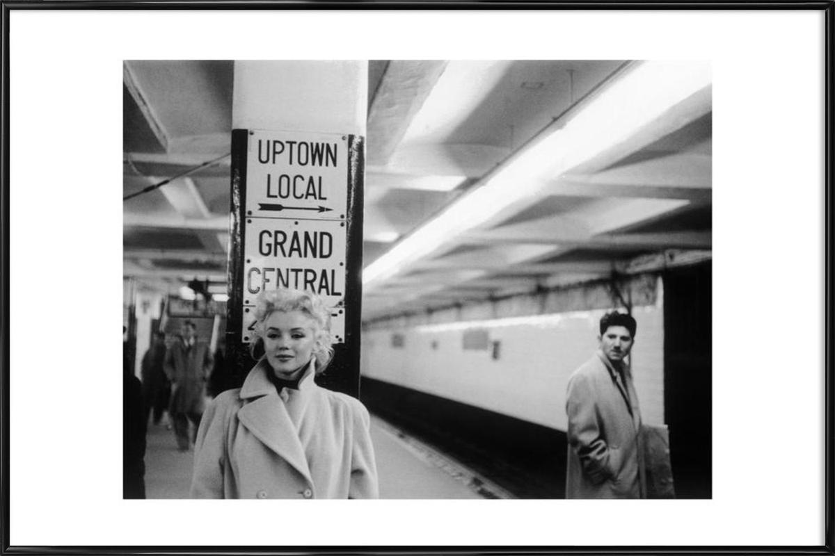 Marilyn Monroe at Grand Central Station, New York 1955 Framed Poster