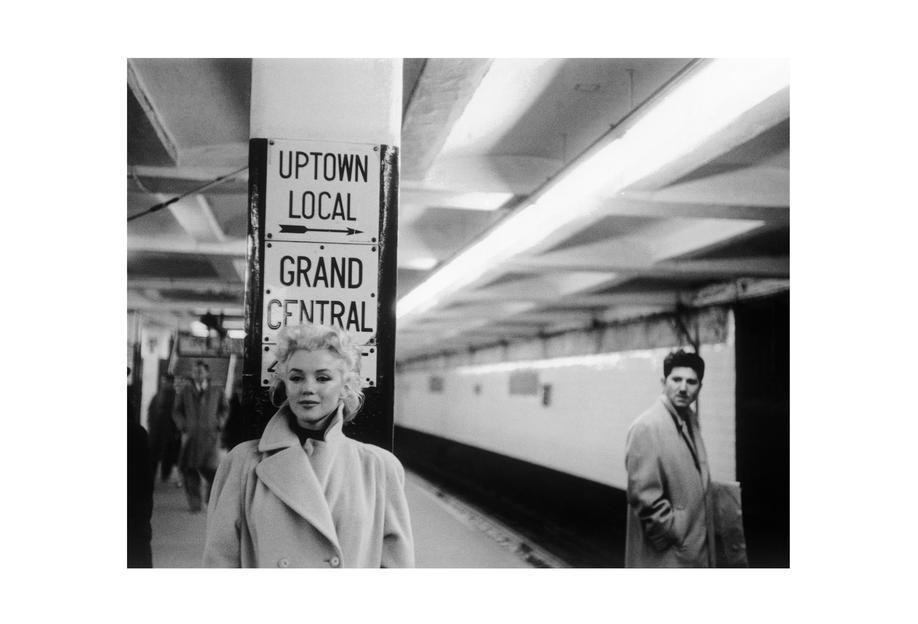 Marilyn Monroe at Grand Central Station, New York 1955 Acrylic Print