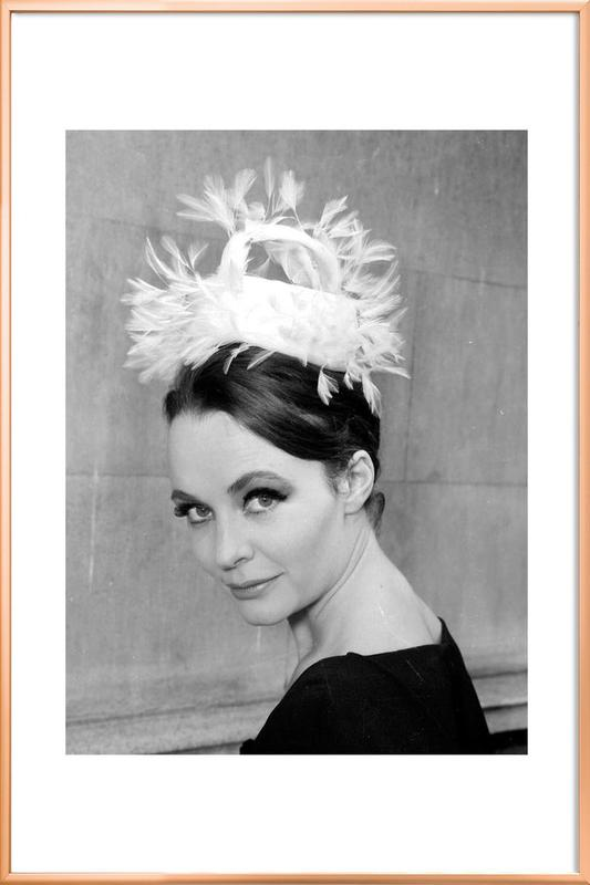 Tania eyde in cocktail hat, 1962 Poster in Aluminium Frame
