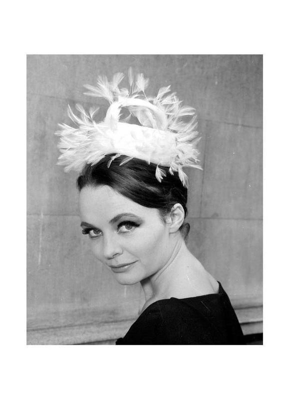Tania eyde in cocktail hat, 1962 Canvas Print