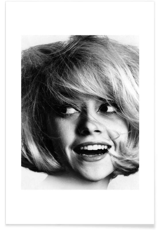 Noir & blanc, Vintage, Modèle, 1966 - Photographie vintage affiche